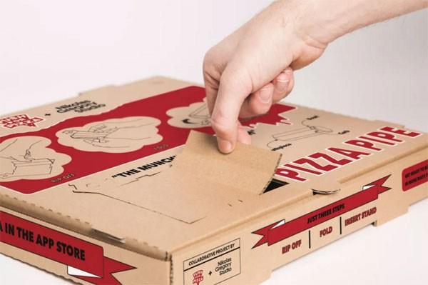 Pizza Pipe: pizzadoos met ingebouwde cannabispijp
