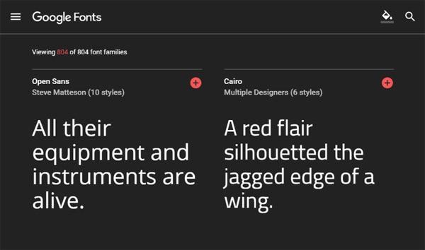 Google Fonts vereenvoudigt het uitzoeken van een mooi lettertype