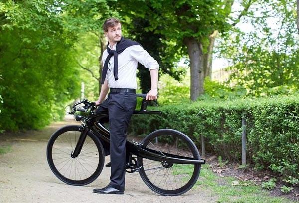 Opus: een fiets die deels retro en en deels futuristisch is