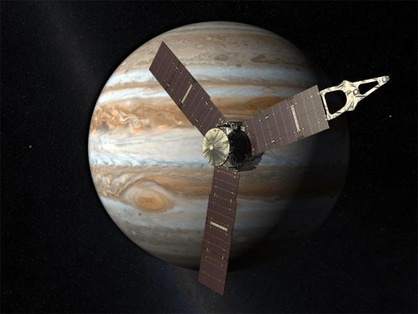 Ruimtesonde Juno bevindt zich in een baan om Jupiter