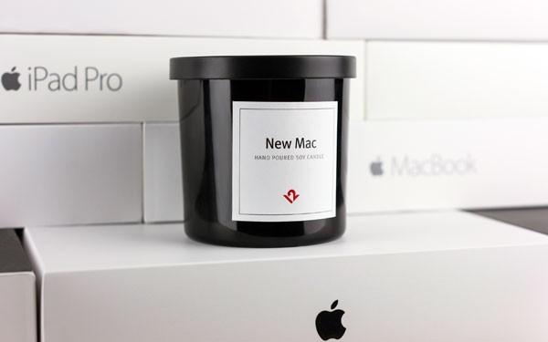 Deze kaars ruikt naar een nieuwe Mac