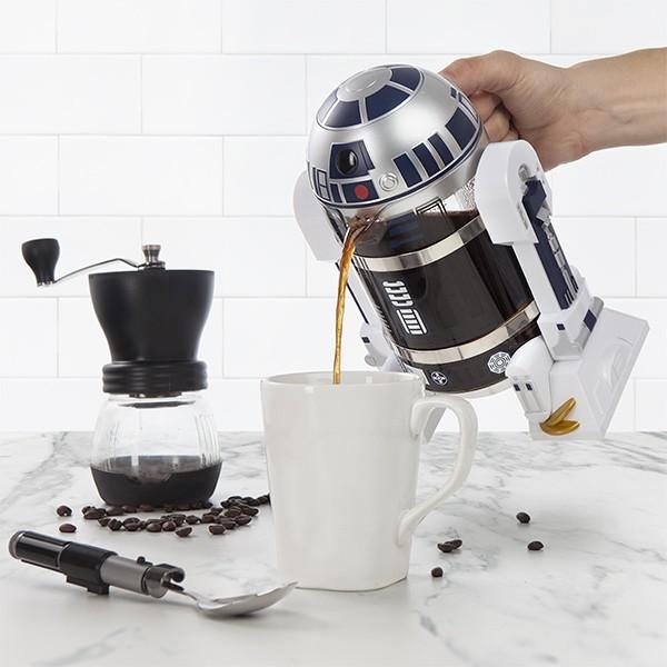 Een cafetière in de vorm van R2-D2