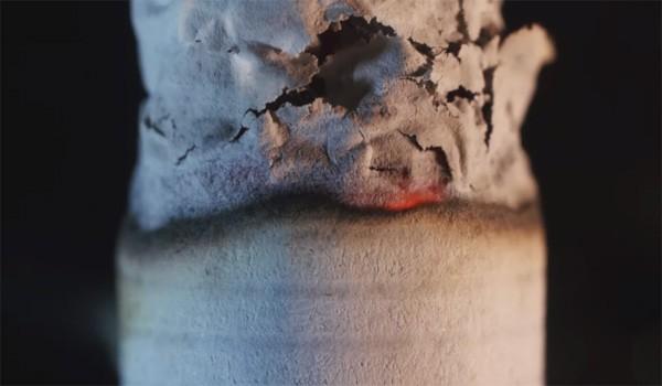 Macrotimelapse beelden van sigaretten