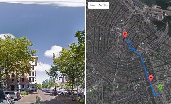 Google Streetview Player Toont Je Route Met Afbeeldingen