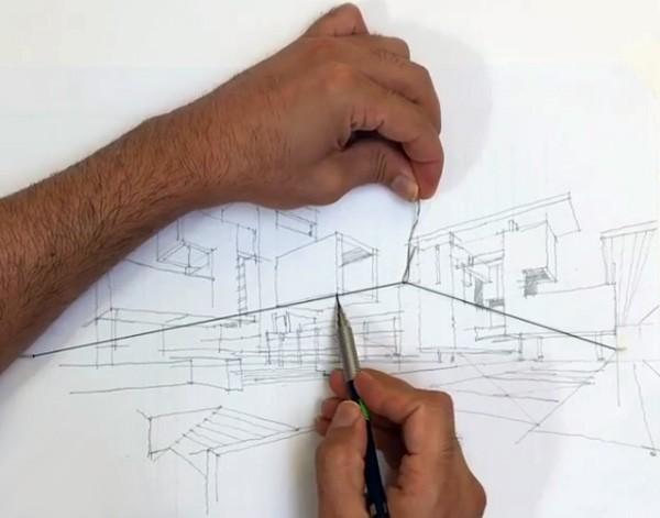 Slimme truc maakt tekenen in perspectief makkelijker