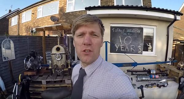 Hoe tien jaar aan bouwsels van Colin Furze eruitzien