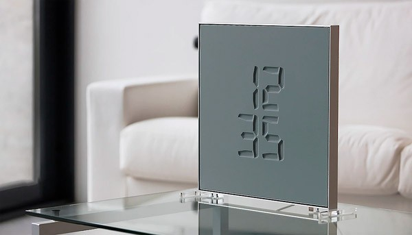Etch: een klok die de tijd weergeeft met een elektrisch membraan