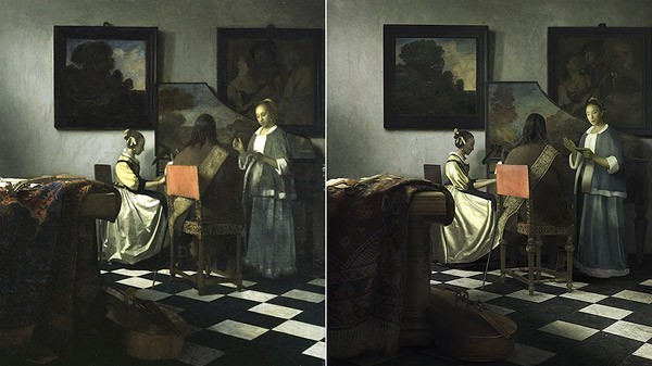 Photoshopper maakt peperdure vermiste Vermeer na