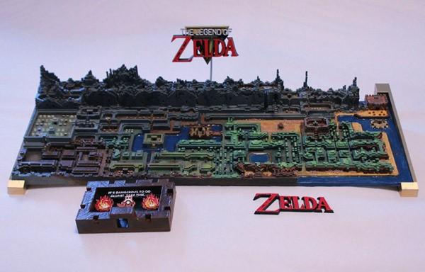 Een prachtige kaart uit de 3D-printer van de originele Zelda