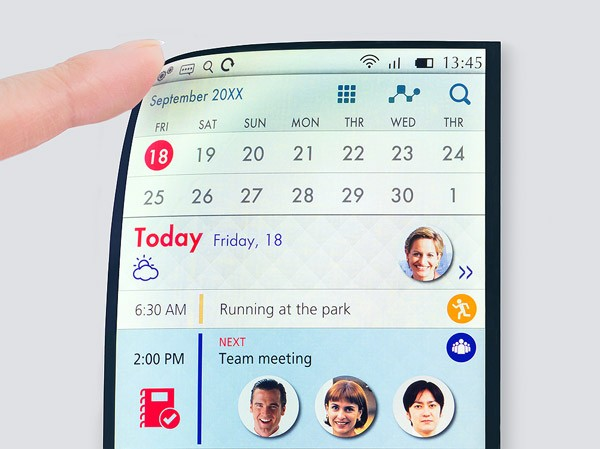 Full Active Flex: een buigbaar smartphone-display