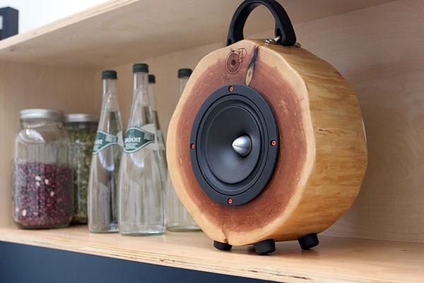 Rockit Logs speaker combineert natuur en technologie