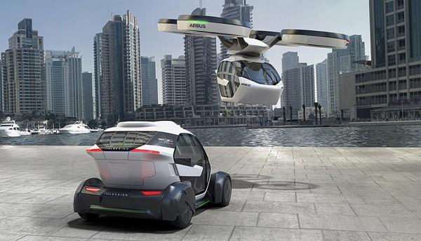 Airbus Pop.Up kan zowel rijden als vliegen