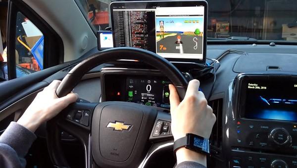 Mario Kart 64 met een auto als controller