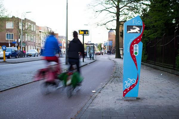 Nederlandse vondst laat fietser minder op het stoplicht wachten