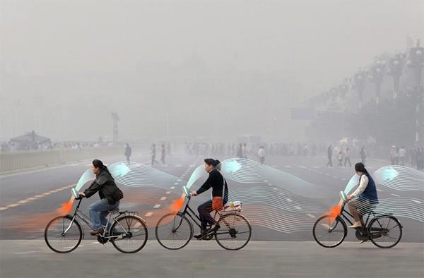 Deze fiets zuivert de lucht die je inademt