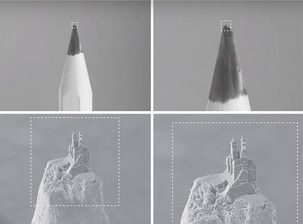 3D-nanoprinter maakt kasteel op potloodpunt