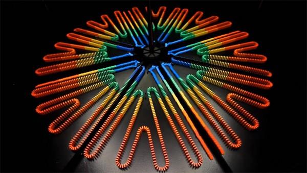 Met een kaleidoscoop verachtvoudigen je domino's