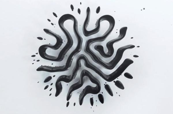 Ferrofluids en magneten leiden tot mooie patronen