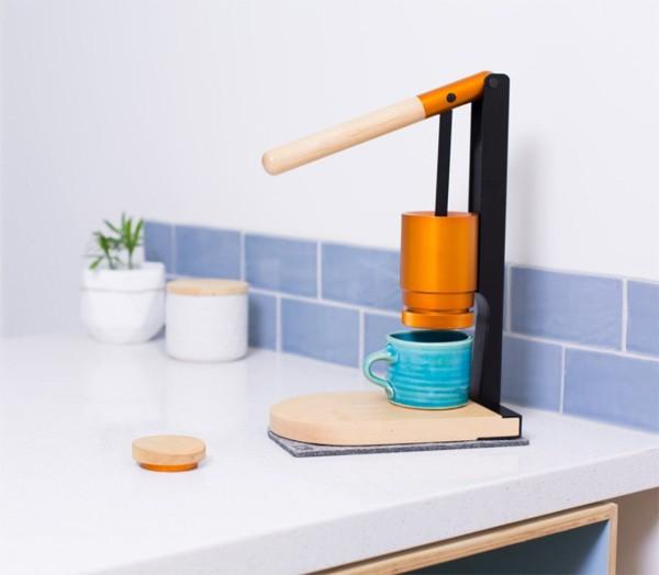 Newton Espresso: een met de hand aangedreven espressomachine
