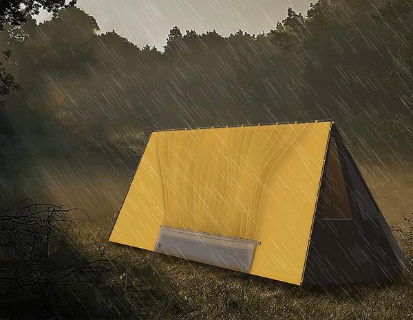De Water Collecting Tent vangt regenwater op