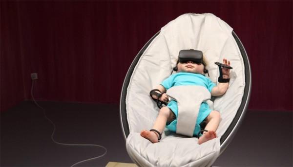 De NurturePod is een VR-bril voor baby's