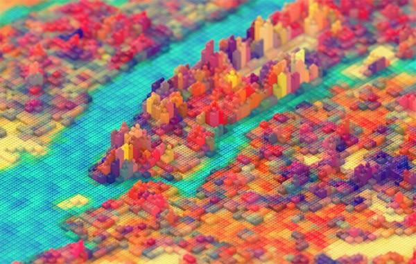Vormgever bouwt New York na met LEGO