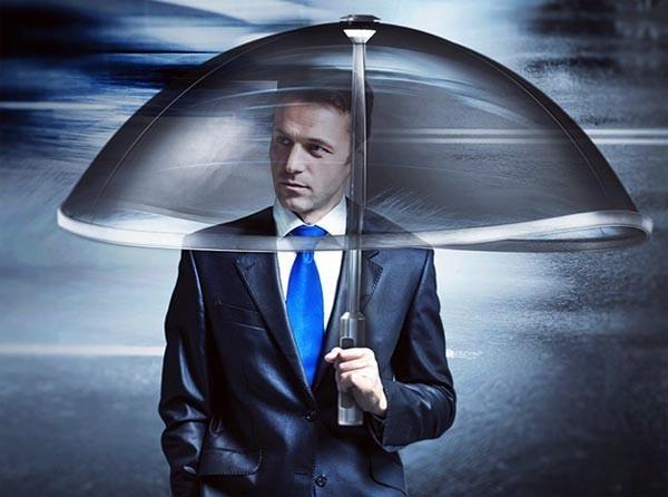 Shield: een opblaasbare paraplu