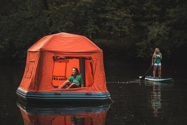 Shoal: de drijvende tent die je op het water laat overnachten