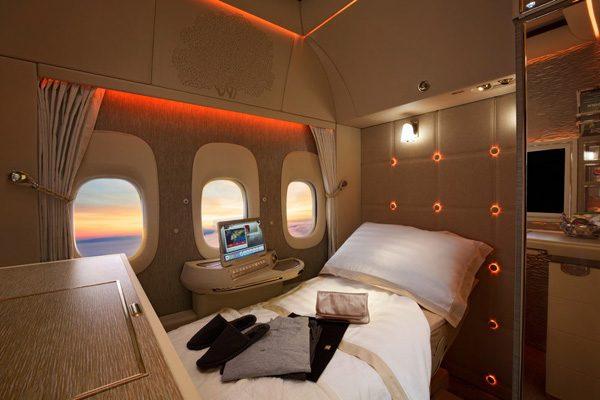 De eerste klasse van Emirates is geïnspireerd op Mercedes