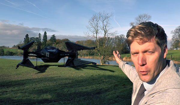 Colin Furze heeft een gigantische Tie Fighter gebouwd