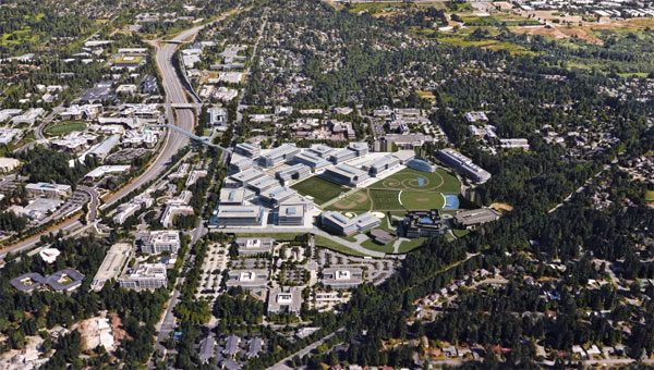 De indrukwekkende nieuwe campus van Microsoft