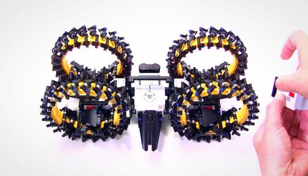 Japanse LEGO-fan bouwt omnidirectionele wielen