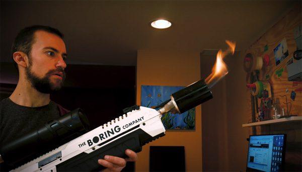 Zo bouw je zelf de vlammenwerper van de Boring Company