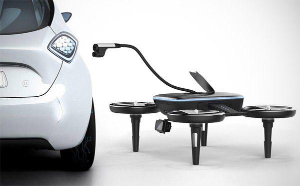 In de toekomst laden drones je elektrische auto op