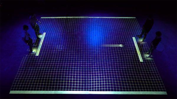 Dit is een fysieke versie van Pong voor vier spelers