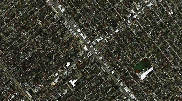 Duizelingwekkende kunst gemaakt van satellietbeelden van Google Earth