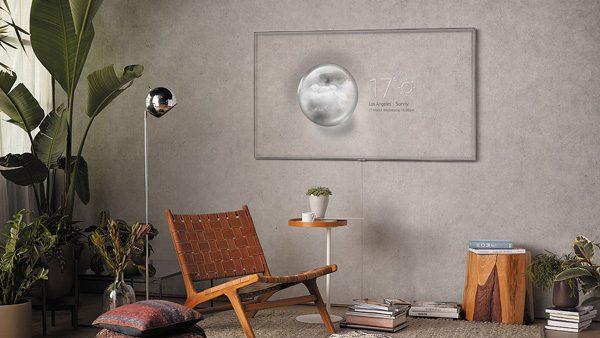 De nieuwe televisies van Samsung verstoppen zich op de muur