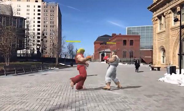Street Fighter in augmented reality laat je vechten op straat