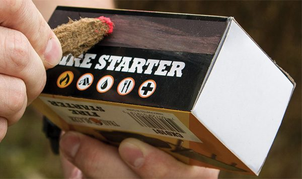 Fire Starter: een enorme lucifer die tien minuten brandt