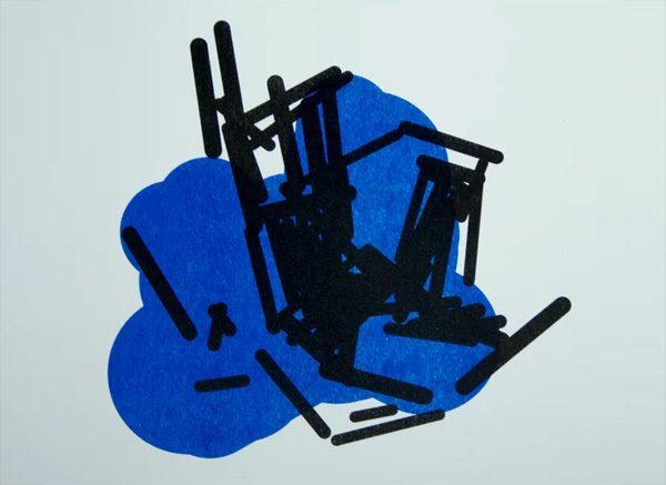 Abstracte kunst gemaakt door kunstmatige intelligentie