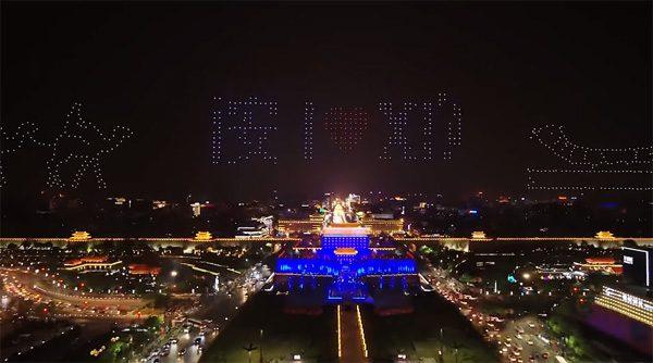 Chinese droneshow breekt wereldrecord, maar faalt behoorlijk