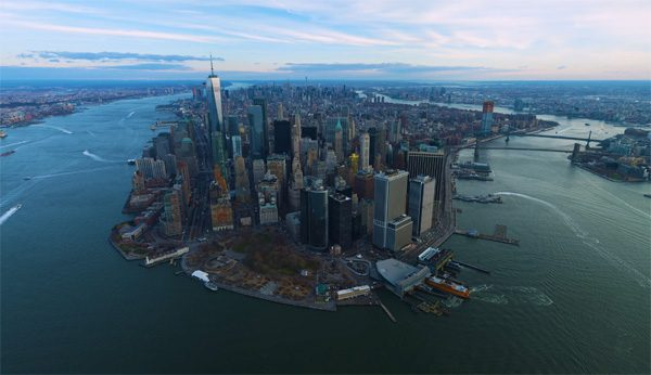 Schitterende drone-video van New York is gefilmd in 12K