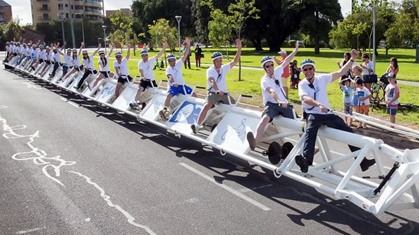 Een stel Australiërs heeft de langste fiets ter wereld gebouwd