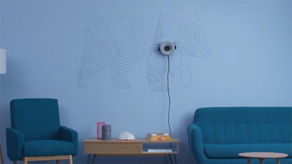 Deze tekenrobot voor muren is nu te koop op Kickstarter