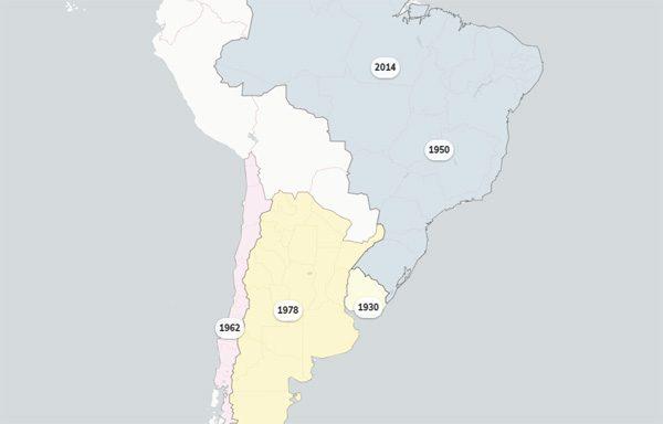 World Cup Maps: een interactieve kaart die alle voetbal-WK's toont