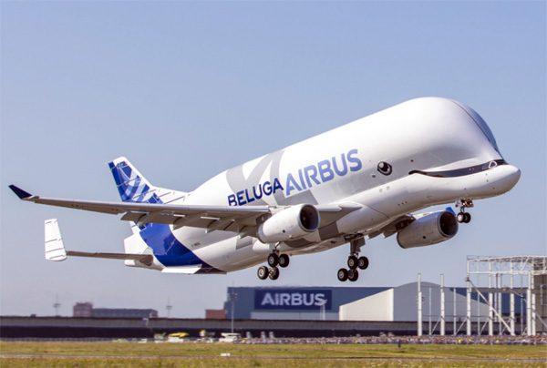 Het nieuwe vliegtuig van Airbus ziet eruit als een vliegende walvis