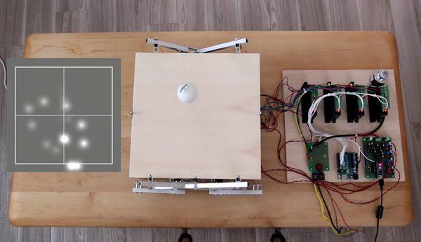 Deze robot houdt een pingpongbal in de lucht door te luisteren
