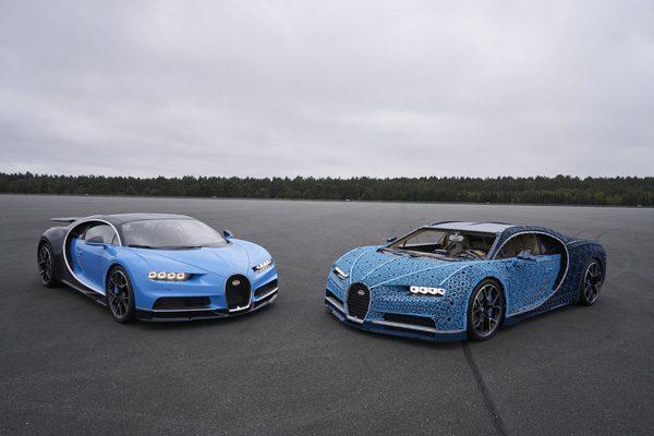 Deze Bugatti Chiron is gemaakt van Lego en rijdt 29 kilometer per uur