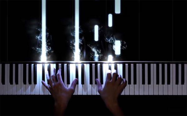 Deze piano laat zien welke noten je moet spelen