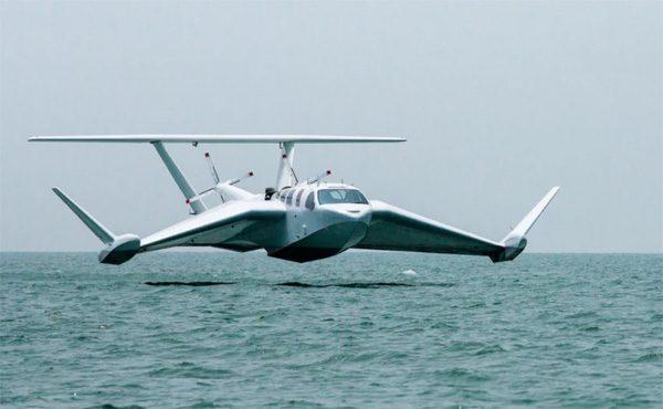 Airfish: een vliegtuigje dat vlak over het water scheert